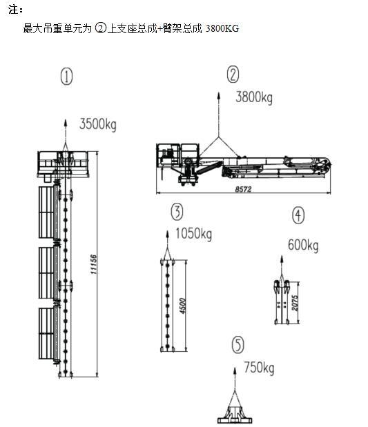 HGY17型液压布料机吊装