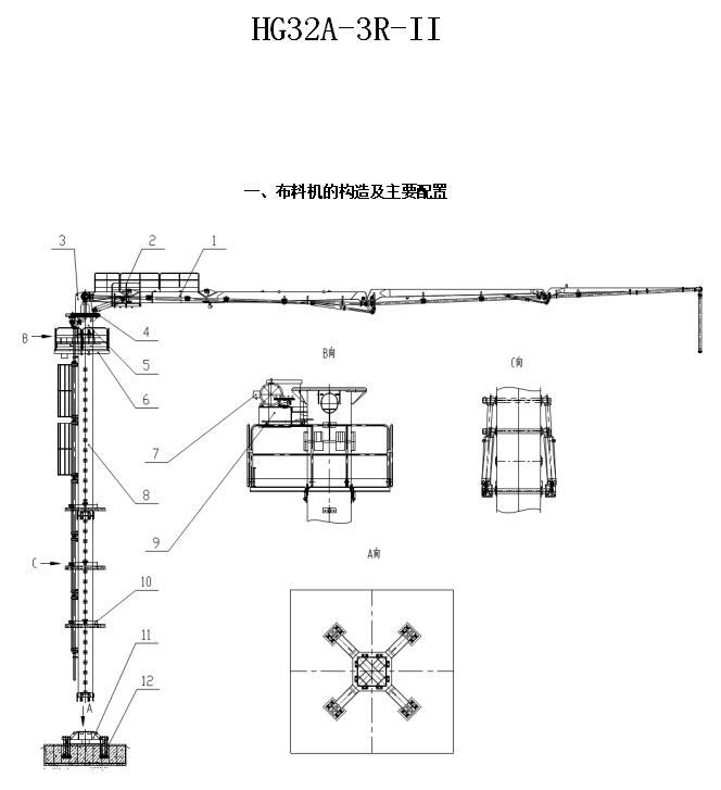 32米电梯井液压布料机