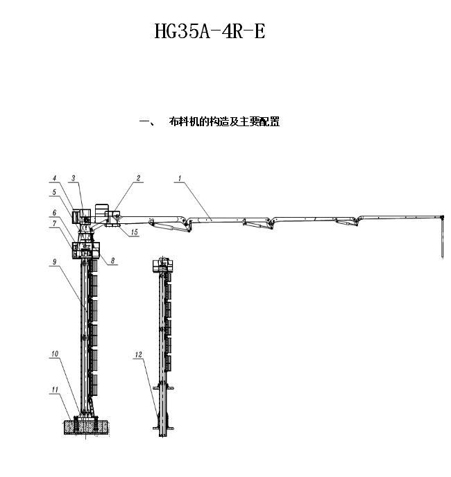 35米电梯井液压布料机